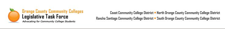 Orange County Community Colleges Legislative Task Force. Marcia Milchiker founded this organization and wrote the campaign plan for it.