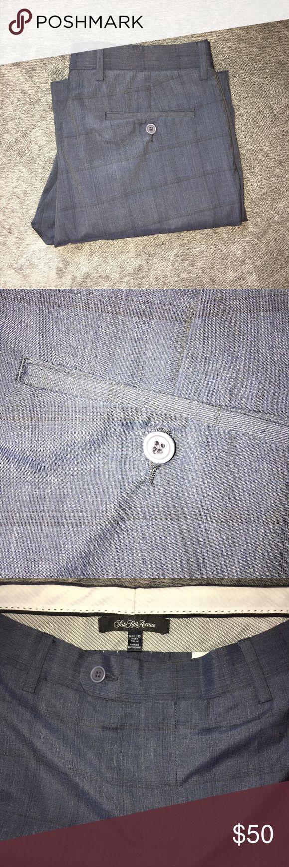 Saks Fifth Avenue Dress Pants Size 32x30 • Saks Fifth Avenue • Plaid Saks Fifth Avenue Pants Dress