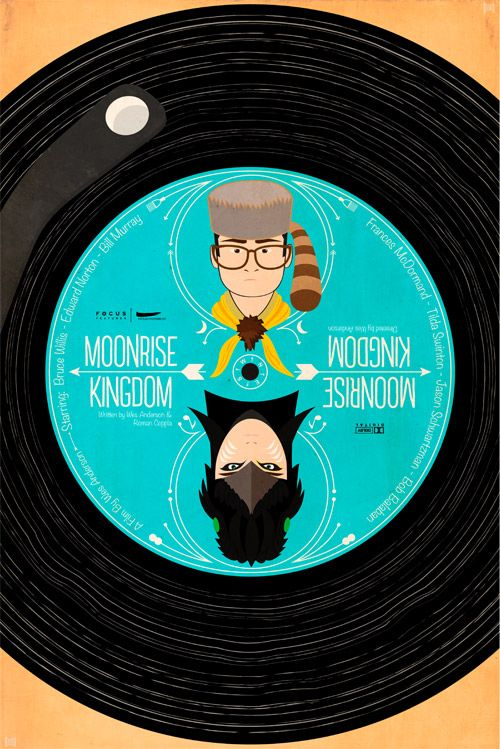 "Alternate poster for Wes Anderson's ""Moonrise Kingdom"" for shortlist.com 
