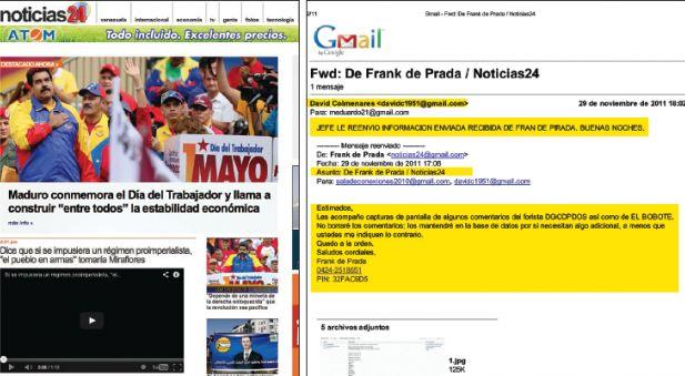 Noticias 24 entrega al SEBIN en Venezuela lista de opositores a Maduro