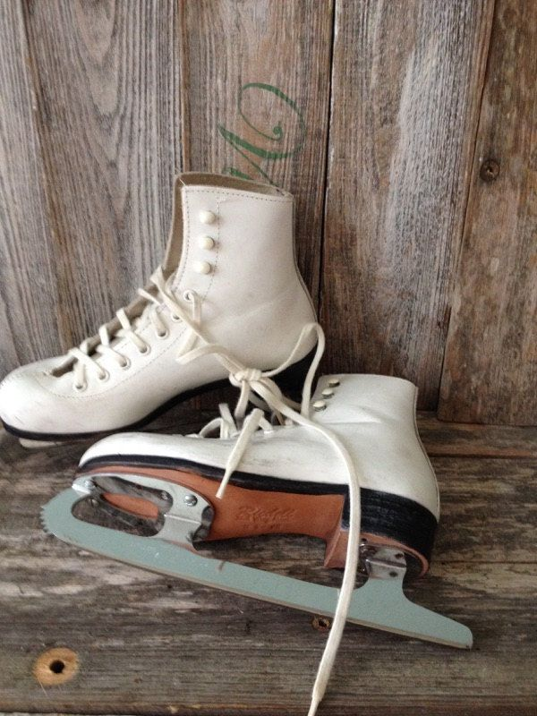 Vintage Riedell Childrens Ice Skates Size 1 by KatiesAngelwings on Etsy