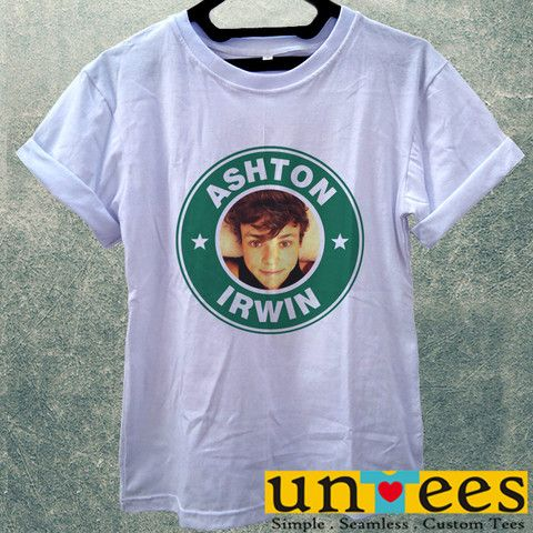 Low Price Women's Adult T-Shirt - Ashton Irwin Starbuck Coffee Logo de – untees