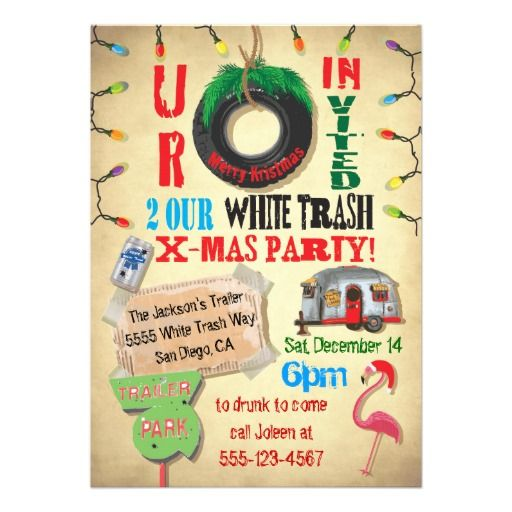 The 25 best Trailer trash party ideas – Trailer Trash Party Invitations