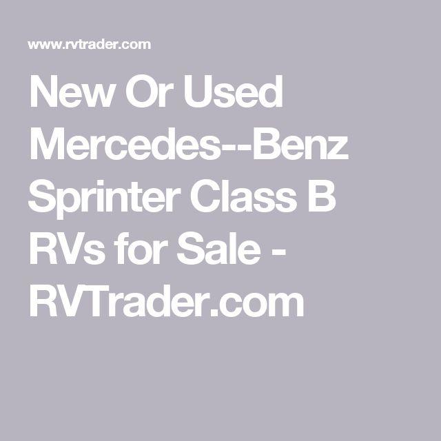 New Or Used Mercedes--Benz Sprinter Class B RVs for Sale - RVTrader.com