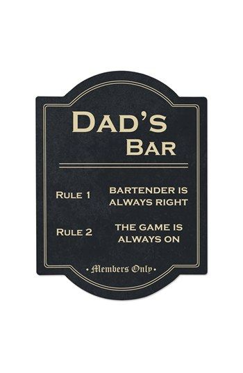 CATHY'S CONCEPTS 'Dad's Bar' Wall Sign available at #Nordstrom #Under$25