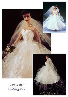 Free Vintage Style Barbie Wedding Gown Pattern