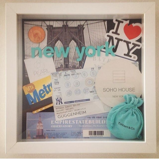 Shadow Box for travel treasures -- New York (first solo trip)
