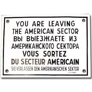 Metal Sign - Checkpoint Charlie Sign at Polart - www.PolandByMail.com