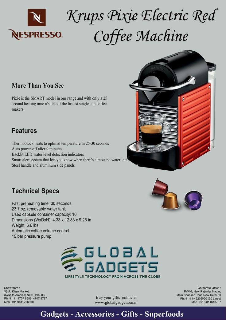 Krups Nespresso® Electric Red Pixie Bundle | THEME FATHERS DAY ...