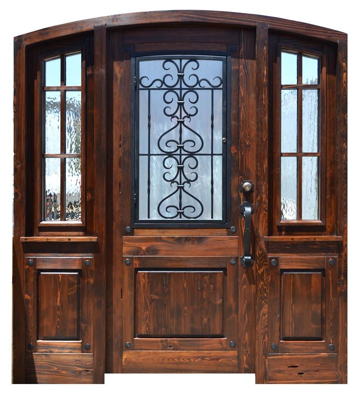 Wood And Iron Front Doors: 30 Best Images About Wrought Iron Door On Pinterest