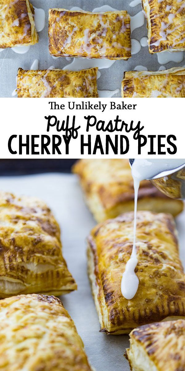 These puff pastry cherry hand pies are so easy to make and so delicious you'd want to have a stash all the time. Perfect for picnics, afternoon snacking and breakfast-on-the-go. #recipe #pie #baking #dessert #snack #easyrecipe #breakfast