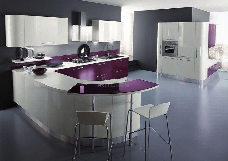 Κουζίνα με καμπύλες,κυματιστά πορτάκια με ενα ξεχωριστό σχεδιασμό που τραβάει τα βλέμματα!