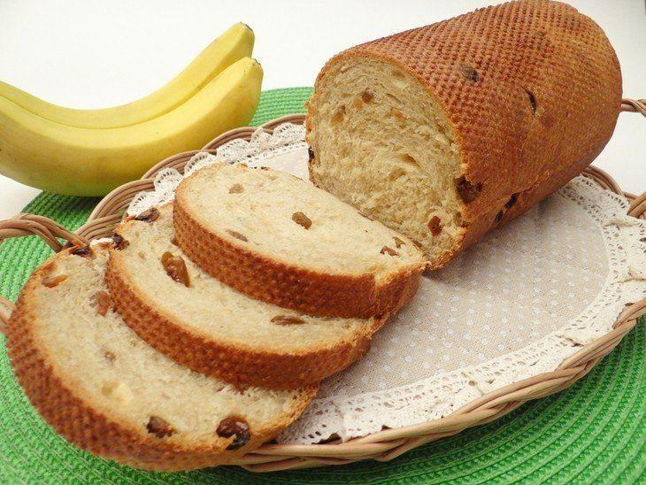 Банановый сладкий тостовый хлеб
