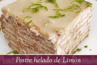 recetas faciles: PASTEL HELADO DE LIMÒN