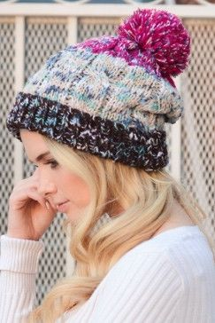 Speckled Multicolor Pom Beanie.
