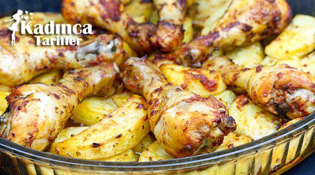 Fırında Soslu Tavuk Baget Ve Baharatlı Patates Tarifi | Kadınca Tarifler | Kolay ve Nefis Yemek Tarifleri Sitesi - Oktay Usta