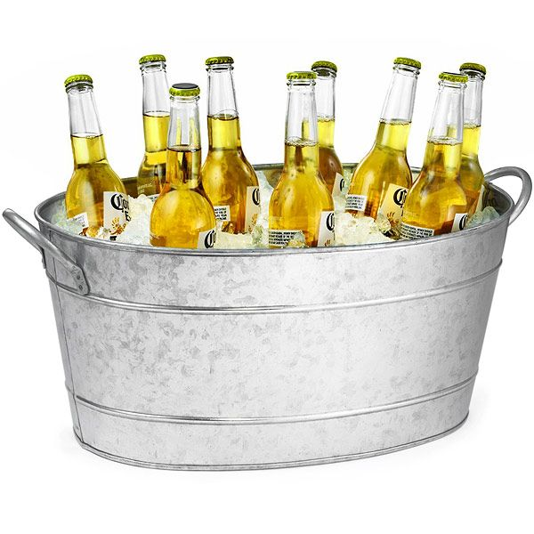 Stainless Steel Oval Beverage Tub | Party Tub Drinks Cooler Bottle Cooler - Buy at drinkstuff