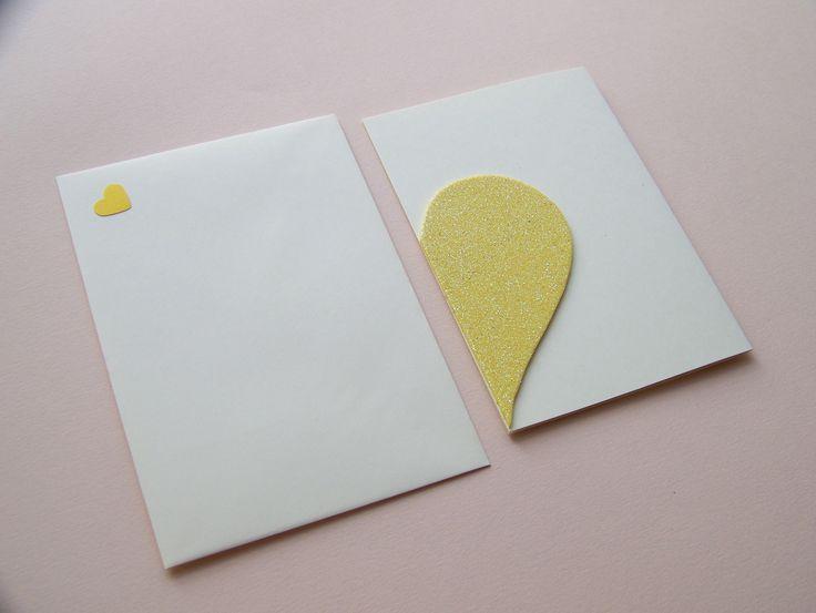 HANDMADE CARD by Lady Lu - Valentine´s day * #valentine #heart #handmade #yellow #littleart #ladylu #srdce #zluta #laska #love #papir #pranicko #rucnitvorba