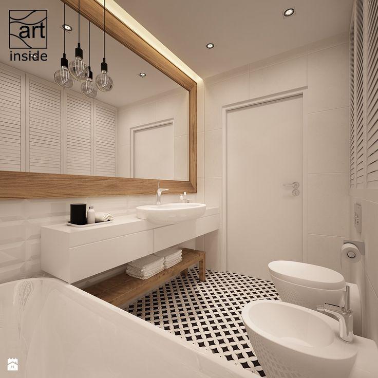 łazienka - styl skandynawski - zdjęcie od art inside - studio projektowania wnętrz i ogrodów - Łazienka - Styl Skandynawski - art inside - studio projektowania wnętrz i ogrodów
