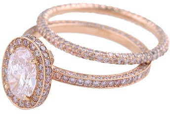 The Gold Ring- Rose Gold Engagement Ring or anytime bling!