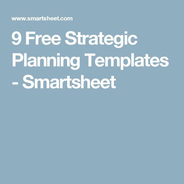 9 Free Strategic Planning Templates - Smartsheet
