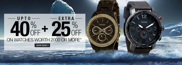 Watches - Upto 40% + Extra 25% Off