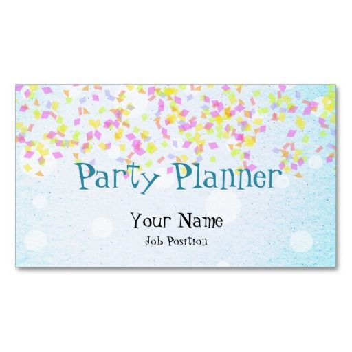 Party planner business card my zazzle products for Event planning ideas parties