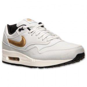 Nike Air Max 1 Premium Heren Platina Kleur Goud Zwart Schoenen kopen. Factory Store Belgie
