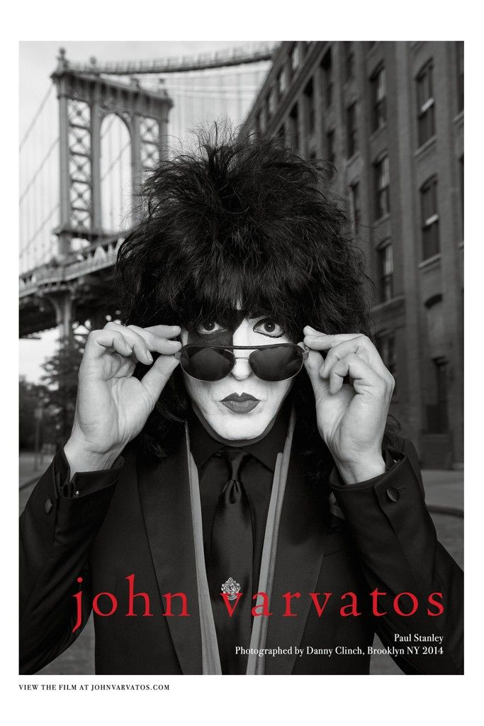 Choice pick! John Varvatos ad campaign featuring KISS for Spring 2014. Paul Stanley photographed in Brooklyn by Danny Clinch.