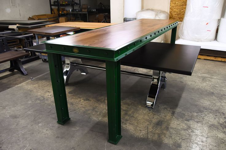 Green Firehouse Bar Tables – Model #FH11 – Vintage Industrial Furniture