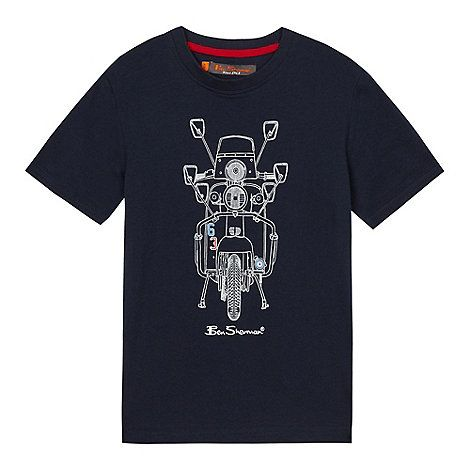 Ben Sherman Boys' navy moped print t-shirt | Debenhams