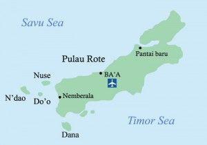map of Rote Island Indonesia