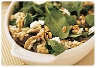 Spinach, mushroom, pine nut baked risotto - 395 per serve