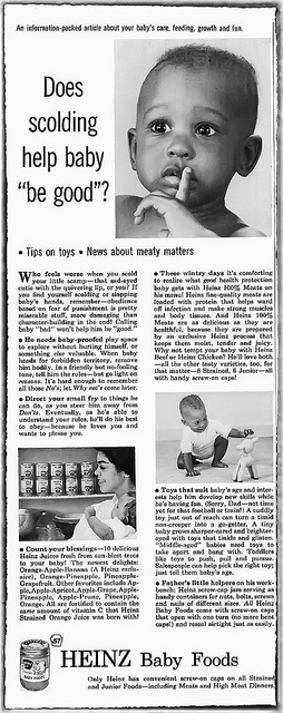 Heinz Baby Food - Ebony Magazine, January, 1961 by vieilles_annonces, via Flickr