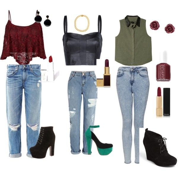 """Jean, night out!"" by vas0an on Polyvore"