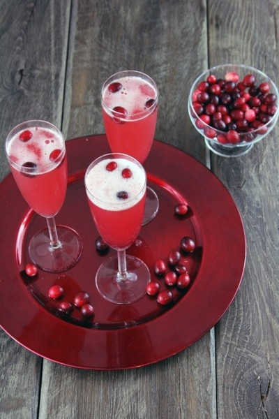 cranberry pomegranate mimosas ... Christmas morning beverage?