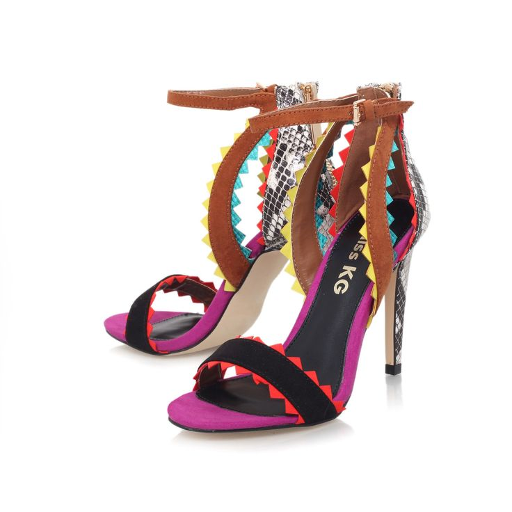 fanfare multi coloured high heel sandals from Miss KG