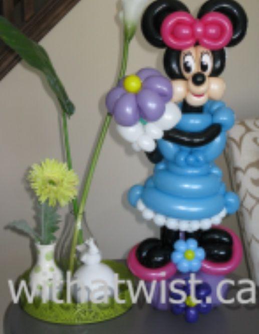 Balloon sculpture. Minnie Mouse Balloon centerpiece.  #balloon #Disney #art #balloon #Disney #sculpture #balloon #Disney #twist #balloon #disney #column #balloon #disney #characters #balloon #disney #arch #balloon #Minnie-mouse #art #sculpture #twist #balloon #Mickey-mouse #art #sculpture #twist #balloon #Donald-duck #sculpture #art #twist #balloon #daffy-duck #sculpture #art #twist #balloon #goofy #sculpture #art #twist