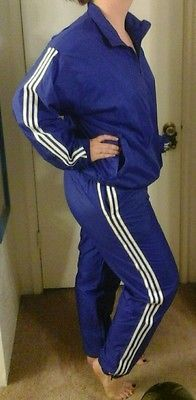 Adidas nylon tracksuit vivid blue unisex. Windbreaker jacket and ...
