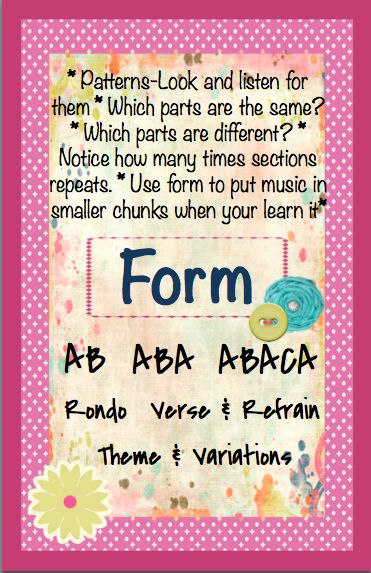 Form anchor chart