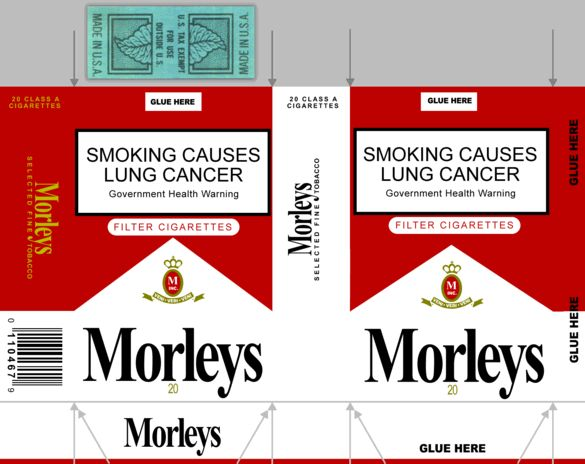 Your very own packet of Morleys Cigarettes, the brand loved by The Smoking Man from the X-Files!