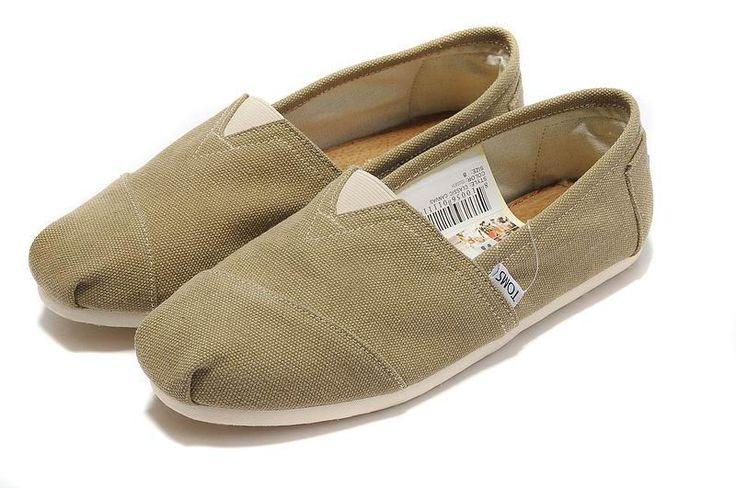 Έκπτωση χακί καμβά γυναικών Toms παπούτσια κλασικών εχθρός Πώληση AS085