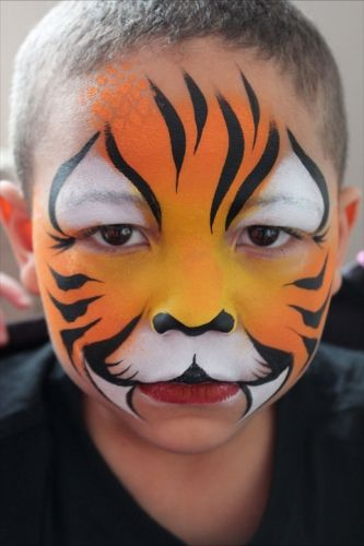 Easy tiger face paint - photo#14