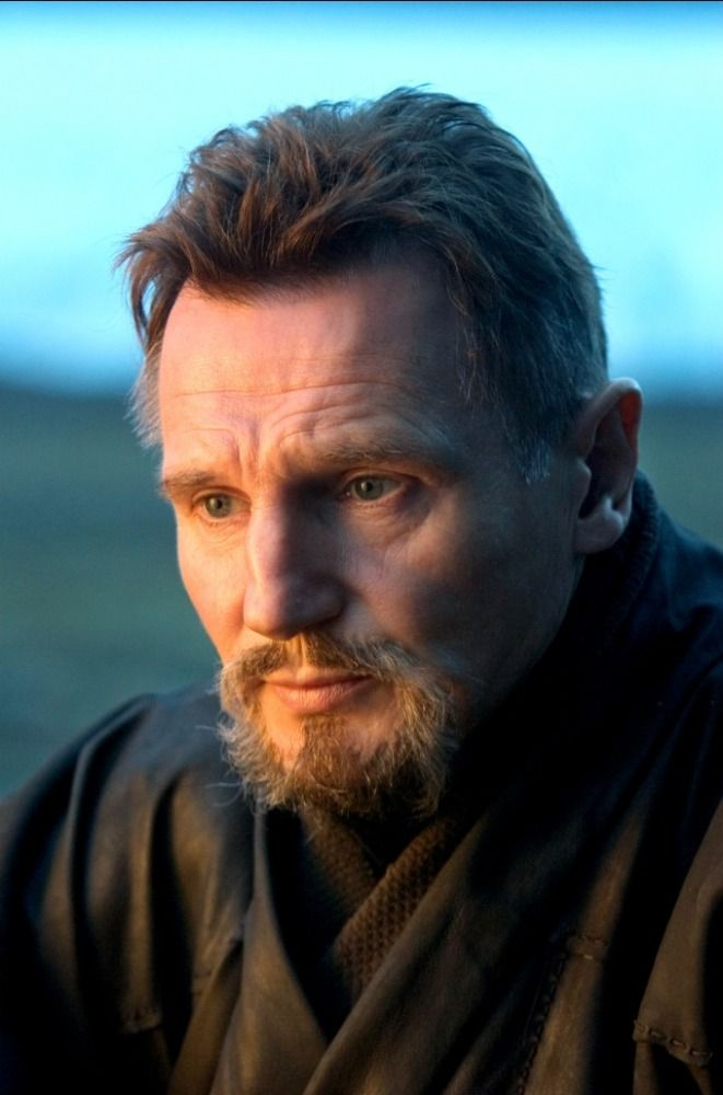 Liam Neeson as Ra's al Ghul from The Dark Knight Trilogy