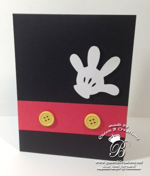 Mikey Mouse card (hand made with Disney cartridge and cricut) #stampinup #queenbcreations