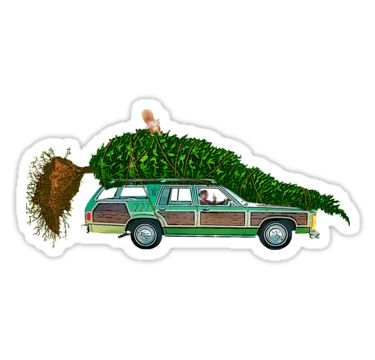 National lampoons christmas vacation car stickers by purakushi redbubble