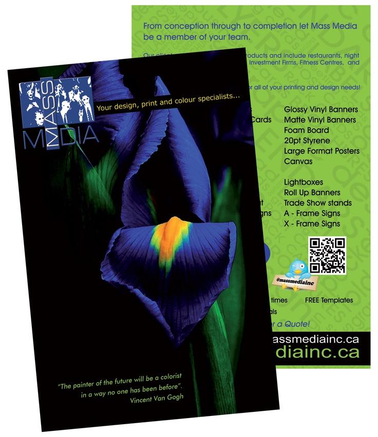 Flyer designed by Mass Media Inc.  www.massmediainc.ca