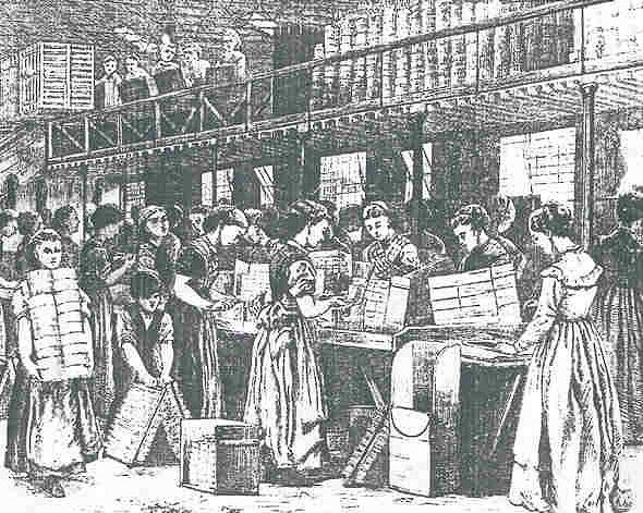 Women workers in 1888, the 'match girls' of the Bryant & May match factory strike for higher wages and in protest against health hazards at work. They succeed in getting more money, but conditions at work remain grim. Bryant and May of London were influential in fighting against the dreadful disease known as phossy jaw, caused by the white phosphorus used in the manufacture of early matches. Some of the first welfare institutions in Britain for industrial workers began on this site…