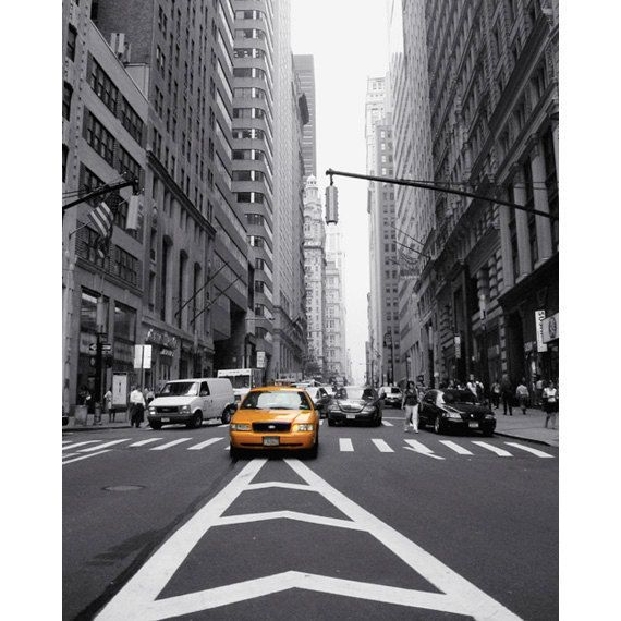 Yellow cab photo new york city nyc taxi photo by nancyfphotos 25 00