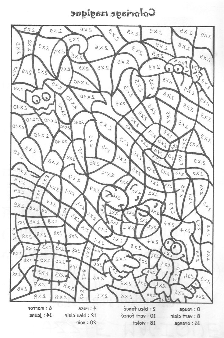 277 original Coloriage Magique Ce27 Multiplication Pics  Coloriage